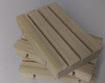 100 Wooden Poplar  Soap Dishes Wholesale Prices!