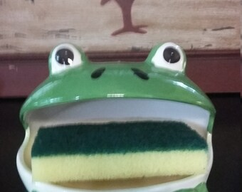 Frog sponge holder etsy uk - Frog sponge holder kitchen sink ...