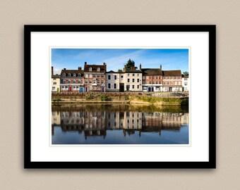 Riverside Reflections, Fine Art Giclée Print.