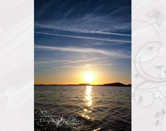 Photo poster (photo) 20 x 30 cm with sunset theme