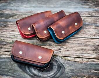 Leather Hips Purse to wear on a belt