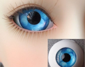 Blue Bubble Doll Eyes for BJD Dollfie 14mm 16mm 18mm 20mm 22mm