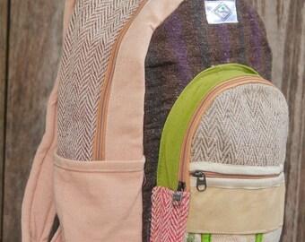 Handmade Himalayan Hemp backpack; PureHemp Co. creations.