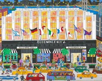 New York Art - Bloomingdales - New York Gift - NYC Art Print - Pat Singer's New York