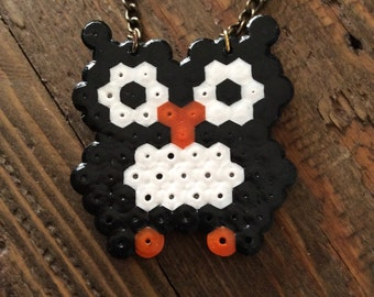 OWL necklace in black and white