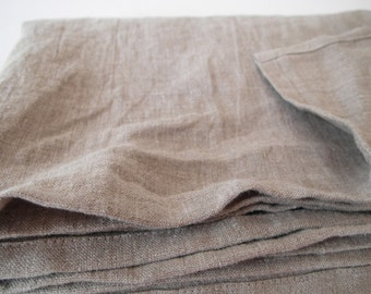 ALLROUNDER canopy bed sheet sleeve Plaid Beach blanket bath towel picnic tablecloth 200 x 146 cm 100% natural linen Stonewashed