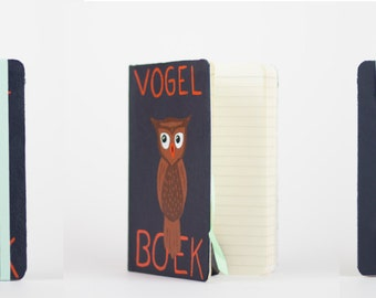 Hand painted leather notebook