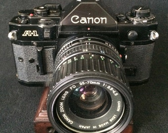 Canon A-1 35mm Film SLR Camera with Canon FD 35-70mm F3.5-4.5 Zoom Lens