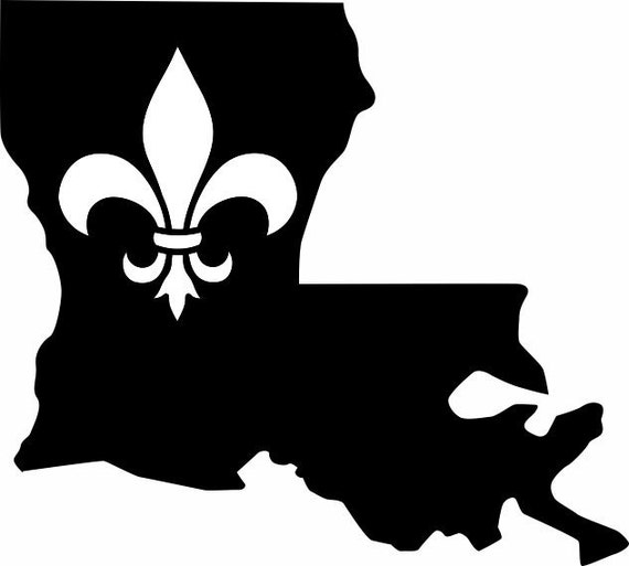 Louisiana state fleur de lis vinyl decal