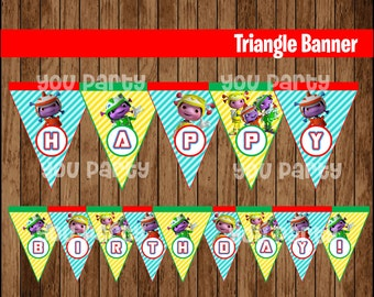 80% OFF SALE  The Floogals Triangle Banner instant download, Printable The Floogals Triangle Banner,  The Floogals Party Banner