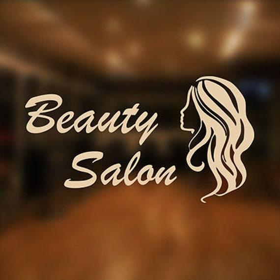 Beauty Salon Shop Vinyl Sign Women Hairdressers Hair