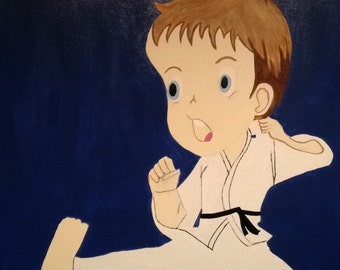 Karate Kid canvas painting