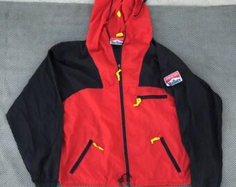 vintage 90s Marlboro red/black windbreaker