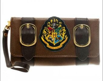Unisex Satchel Fold Purse Bifold Wallet Harry Potter Hogwarts Castle Design