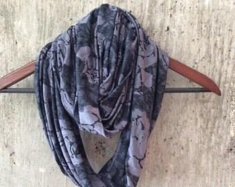 Romantic purple rose infinity scarf