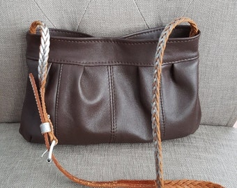 ON SALE Small Dark Brown Leather Bag