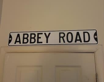 Porcelain  Abbey  Road  sign