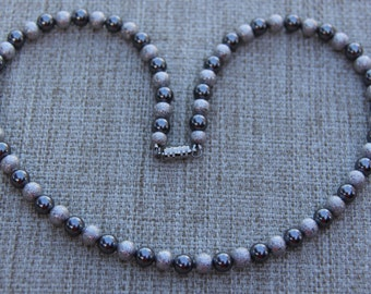 Swarovski pearl choker necklace with silver stardust beads