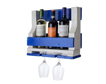 "Wine bottle holder wine bucket ""Mykonos"""