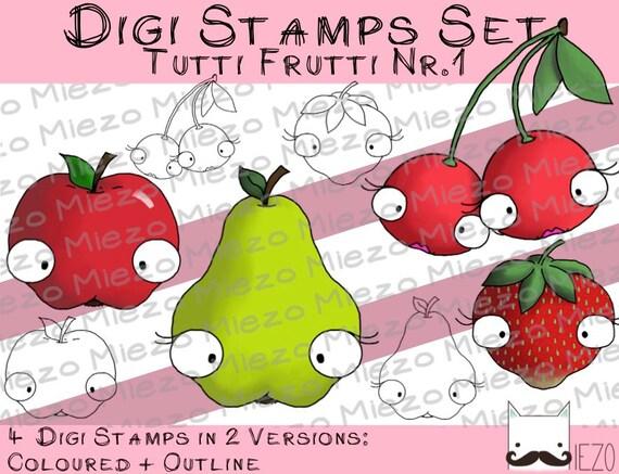 digitale stempel digi stamps set tutti frutti nr 1 2. Black Bedroom Furniture Sets. Home Design Ideas