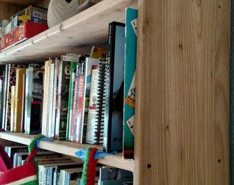 Custom Built Reclaimed Oak(resawn oak barn beam) Bookcase or Red Barnwood Bookcase