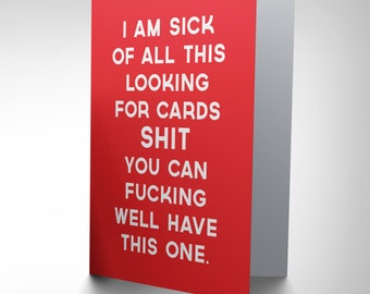 Funny Adult Humour Card - Looking Cards Swear Rude CP2161