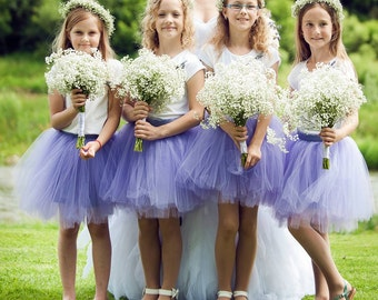 "Children's handmade tulle skirt/tutu for girls, 40 cm/16"" lenght, many different colours"