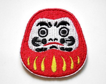 Japanese Tradition Dharma Mascot Iron On Patch New