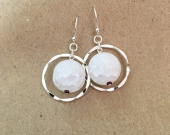 Simple and bold Quartz earrings
