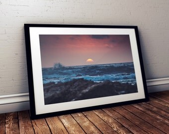Pescadero Sunset - Fine Art Print - 8x10 11x16, Landscape Photograph