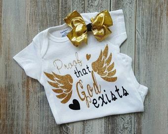 Baby girl clothes, baby girl onesies, onesie,newborn onesie, infant onesies, god onesies, religious onesies, cute onesies, baby onesies