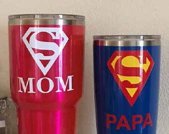Yeti!! Custom Powder Coated yeti cups with custom made vinyl decals of your choice. Buy a yeti and customize to your liking.
