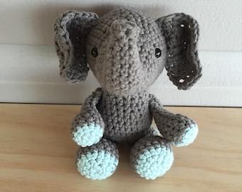 Stuffed Elephant, Baby Elephant, Newborn Photo Prop, Crochet Elephant, Elephant Toy, Baby Shower Gift, Elephant Nursery, Elephant Amigurumi