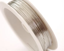 A ROLL (0.2, 0.25, 0.3, 0.4, 0.5, 0.6, 0.7, 0.8,0.9, 1 mm )Silver colour Jewellery Brass String Wire THREAD CORD Bracelet Supplies Beading