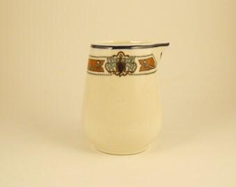 Vintage Ivory Lamberton Sterling, Individual Creamer, 1970s Creamer, Handleless Creamer, Blue Band, Crest, Lions