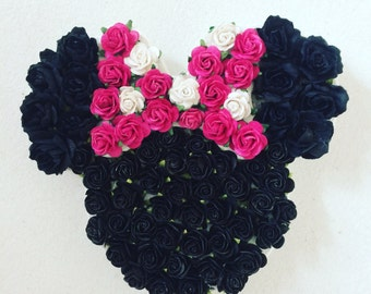 Custom made floral Minnie Mouse head// babyshower gift// birthday gift