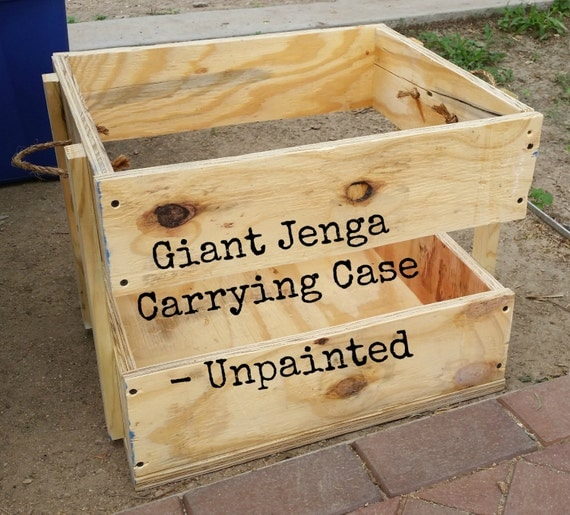 unpainted carrying case for giant jenga lawn games life by kwapa. Black Bedroom Furniture Sets. Home Design Ideas
