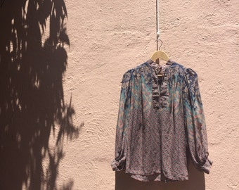 70's/80's peasent blouse