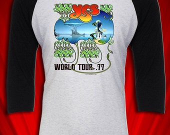 YES Vintage Tour Concert Tee T-shirt Jersey 1977