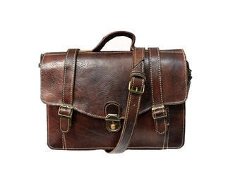 The Caulfield - Handmade Leather Messenger Bag