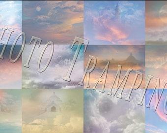 Pastel Fantasy Skies Backdrop
