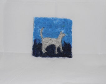 Needle Felted Cat Portrait