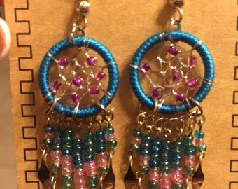 Beaded Dream Catcher Earring