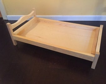 "Handmade 18"" Doll bed"
