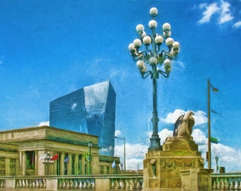 30th Street Station, Cira Centre, Philadelphia, Skyscraper, Urban Art, City Architecture, Philadelphia Architecture, Fine Art Print, Philly