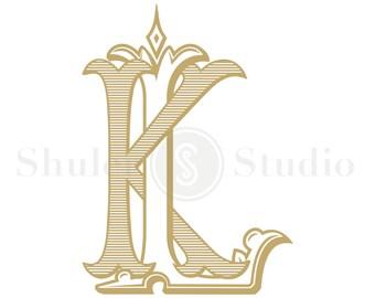 Wedding Monogram Logo - KL LK - Monogram Logo - Digital