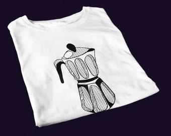 Moka pot – men's screen printed t-shirt