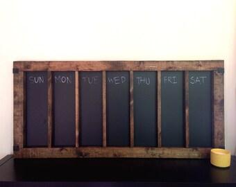 Rustic Chalkboard Calendar