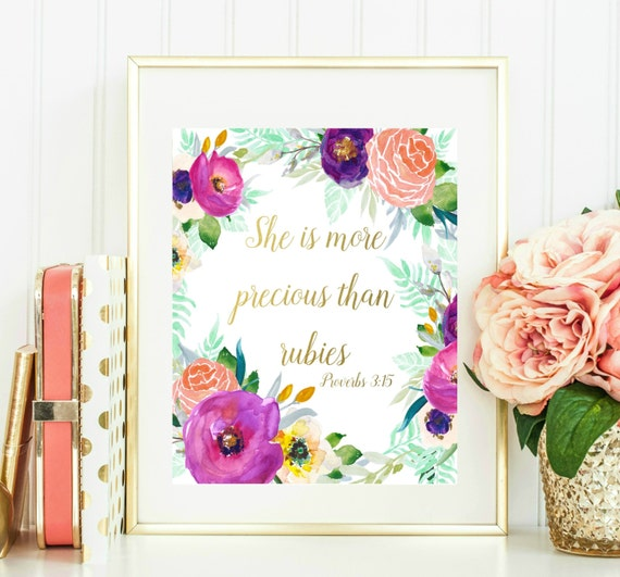 She Is More Precious Than Rubies Printable Instant Download