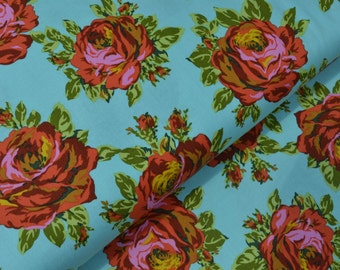 Rose Lore in Sky from the Eternal Sunshine Collection by Amy Butler - Cotton Quilting Fabric